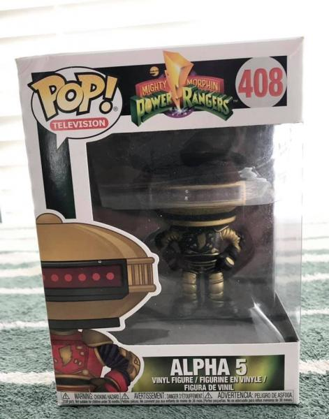POWER RANGERS BLACK AND GOLD ALPHA 5 POP