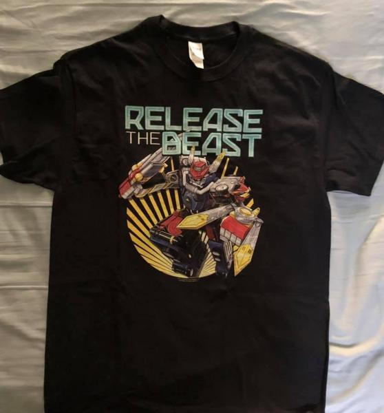 POWER RANGERS RELEASE THE BEAST T-SHIRT (L)