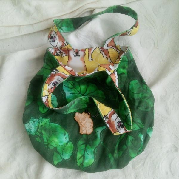 Reversible gabber purse (Green Kalo x Breezeley Poses)