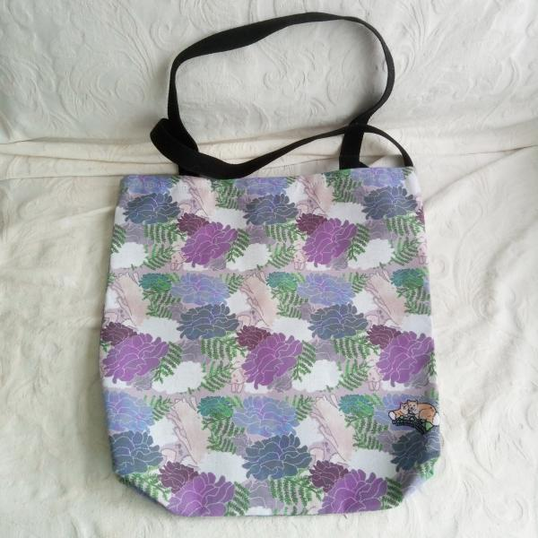 Canvas tote (pastel Moody Blosses)