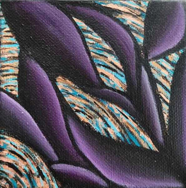 Purple Sinewy on Teal Vortex 4x4 Mini picture