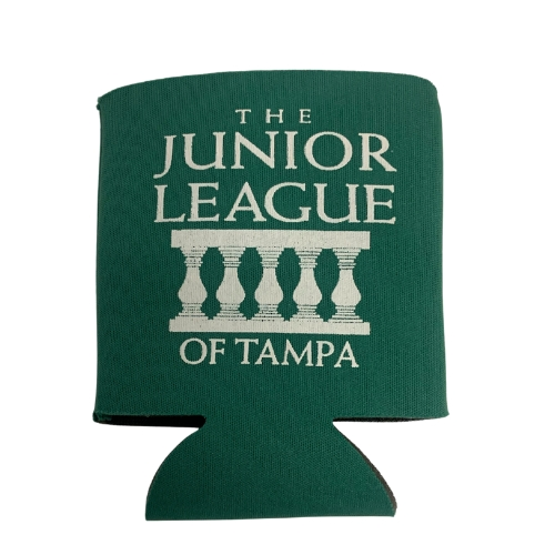 Junior League of Tampa Can Koozie - Green/White