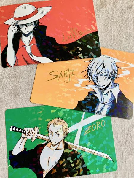 One Piece trio postcard prints