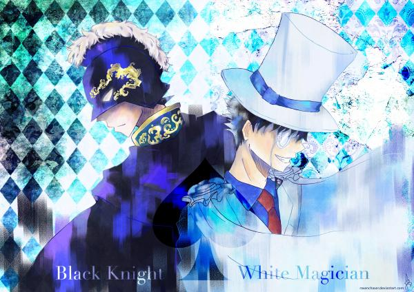 Black Knight vs White Magician Poster Print