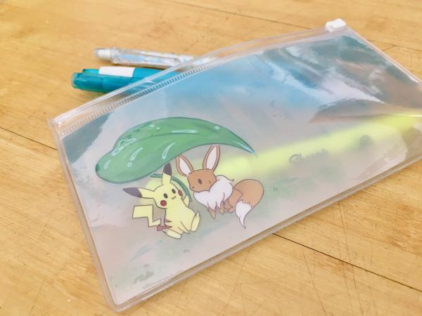 Pikachu and Eevee pouch