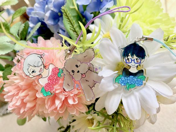 Yuuri on Ice acrylic charms
