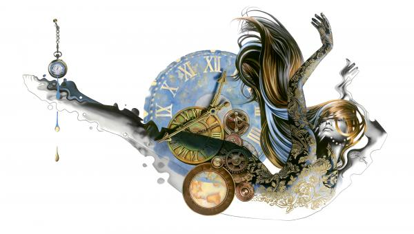 """My time"", limited edition canvas embellished"