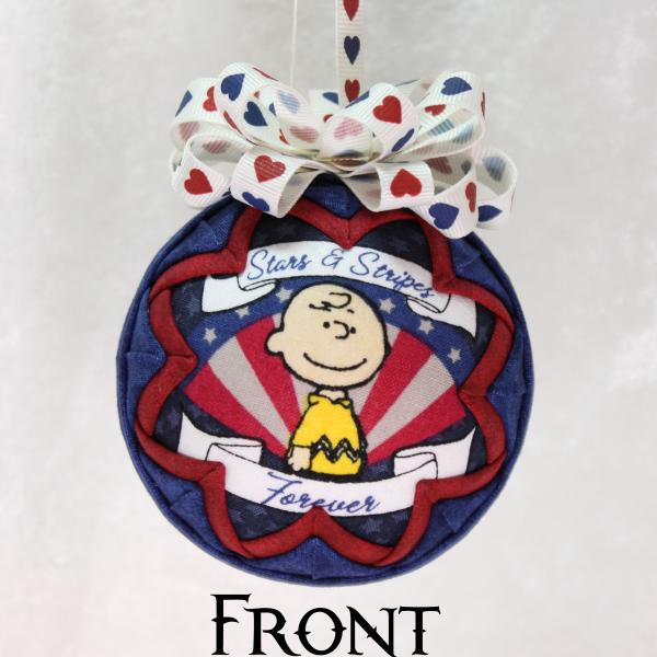 Patriotic Charlie Brown and Snoopy Peanuts Ornament