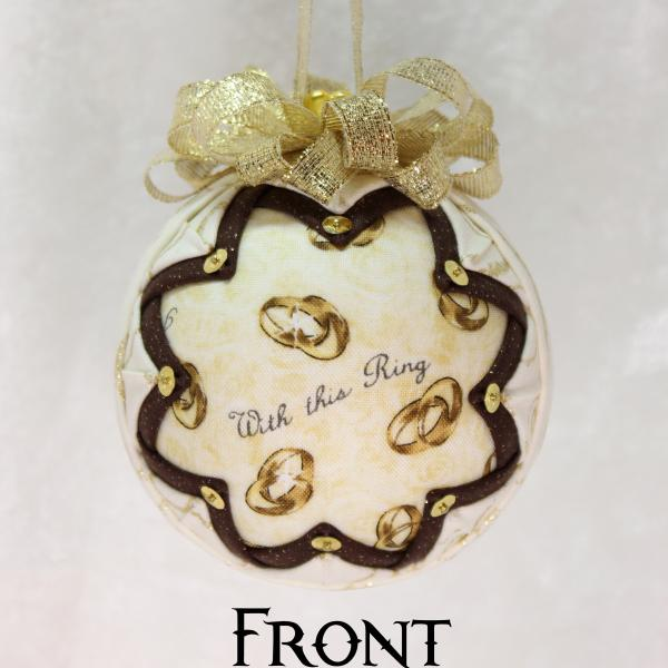 First Christmas Wedding Ring Ornament