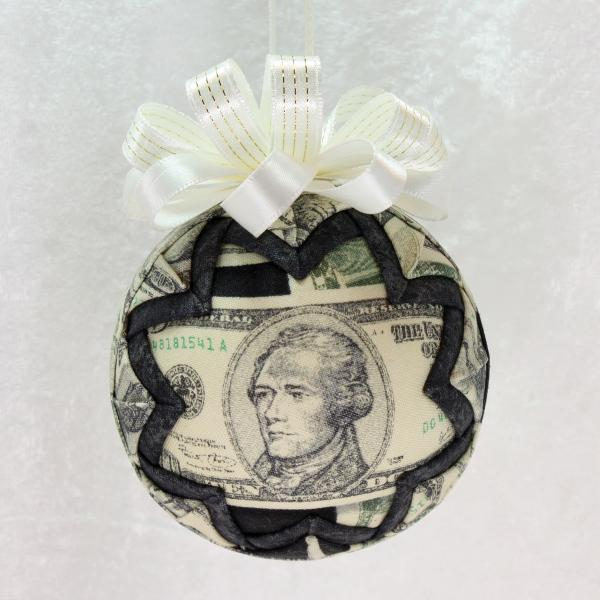 Paper Money Faces Ornament picture