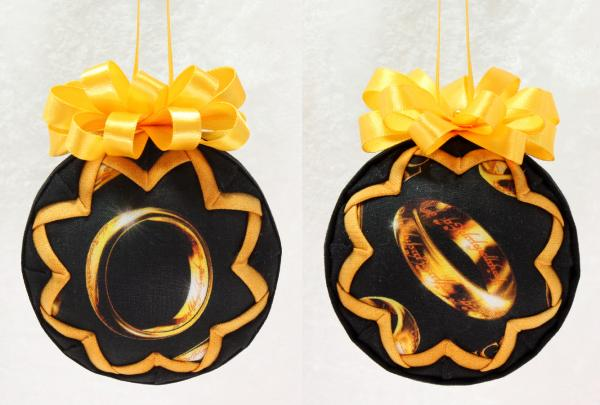 Lord of the Rings Ring or Logo Ornament