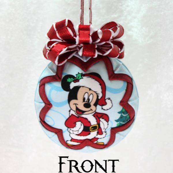 Santa Mickey & Minnie Mouse Ornament