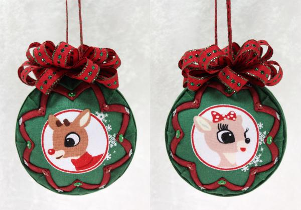 Rudolph the Red-Nosed Reindeer Ornament Red & Green