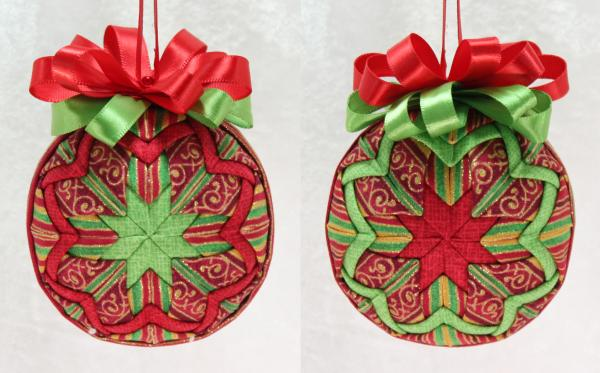 Christmas Stripes Quilted Star Ornament picture