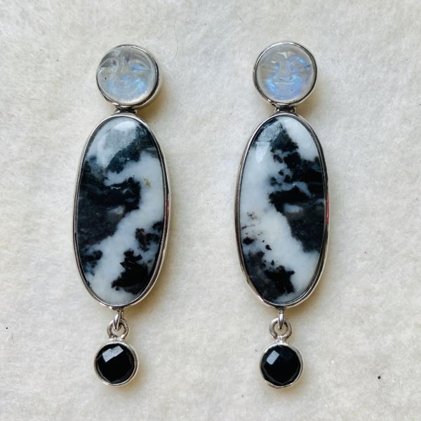 Moonstone and Jas0er drop,earrings picture