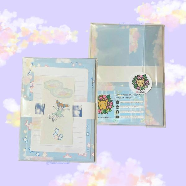 Clouds Blue Letter Set