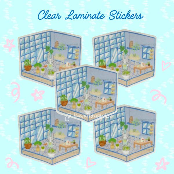 Clear Laminate Garden House Stickers
