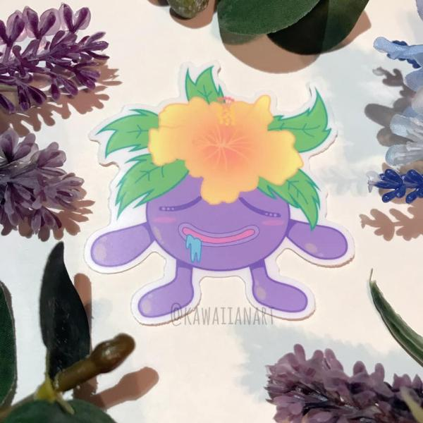 Gloom Hibiscus Vinyl Sticker
