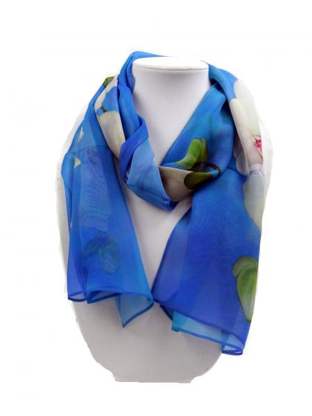 Angelic Orchid Sheer Silk Scarf, Turks & Caicos
