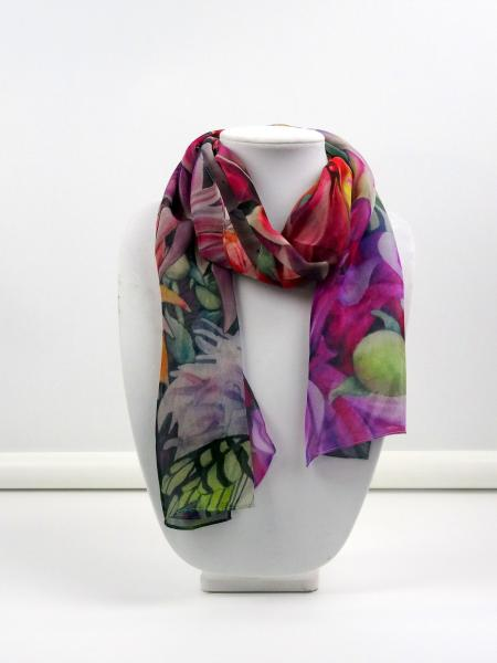 Nature's Bounty Sheer Silk Scarf