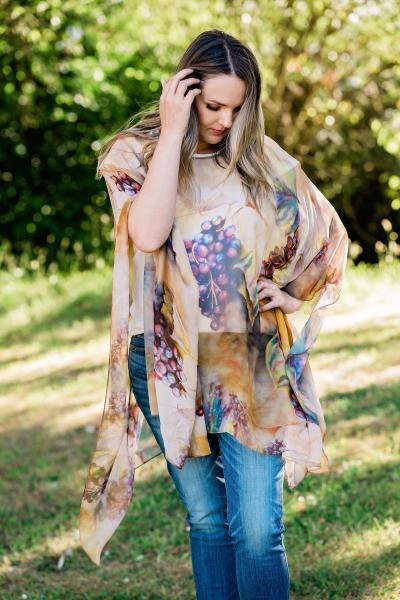 Earthy & beautiful winery appeal Sheer Cover up - Caftan - Poncho picture