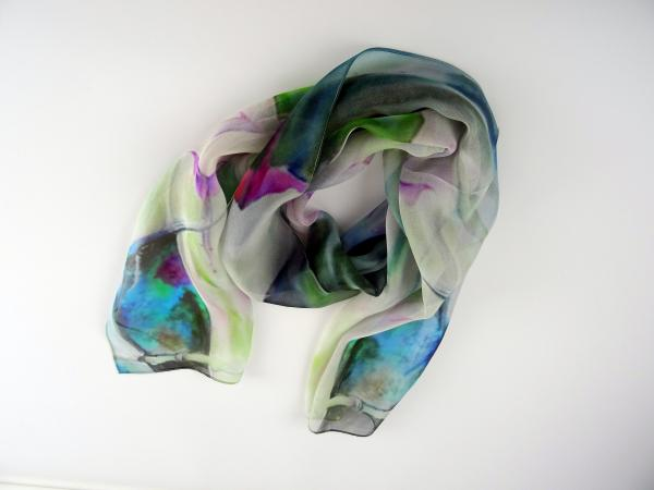 Here Comes the Rain Sheer Silk Scarf picture