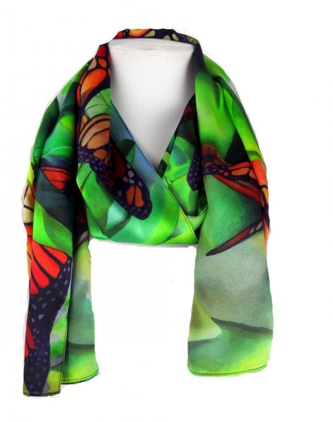 Morning Light Monarch Silk Scarf