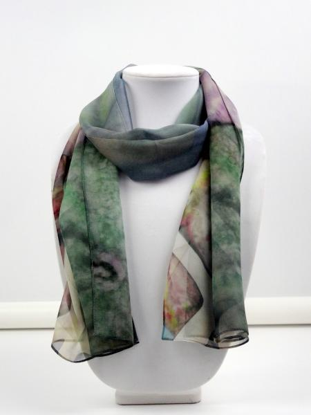 By the Sea Sheer Silk Scarf, Green