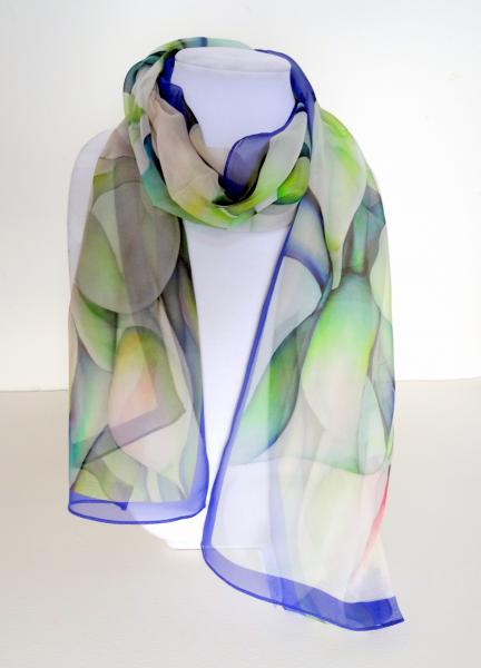 Dreamscapes I Sheer Silk Scarf