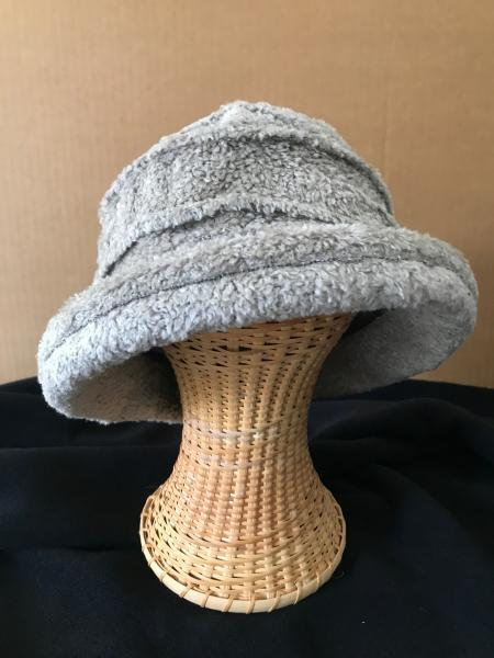 Gray brimmed hat