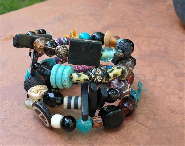 Colorful Memory Wire Wrap Bracelet picture