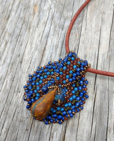 Hand Beaded Medallion Necklace