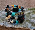 Colorful Memory Wire Wrap Bracelet