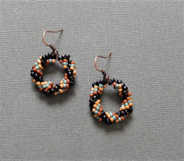 Hand Woven Dangle Earrings