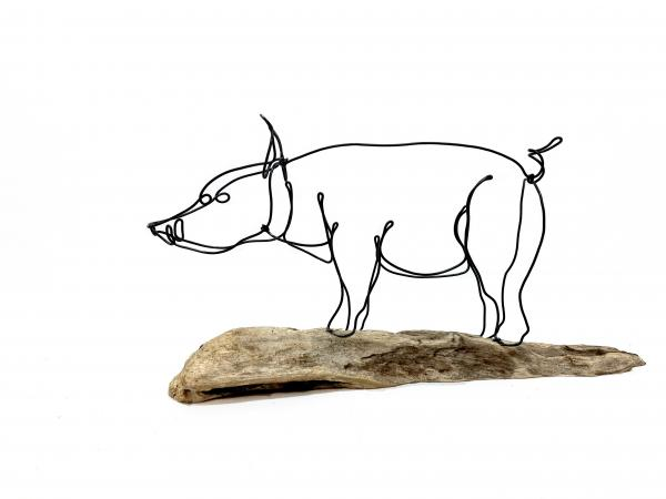 Wild Hog Wire Sculpture