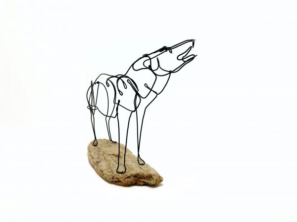 Howling Wolf Wire Sculpture picture