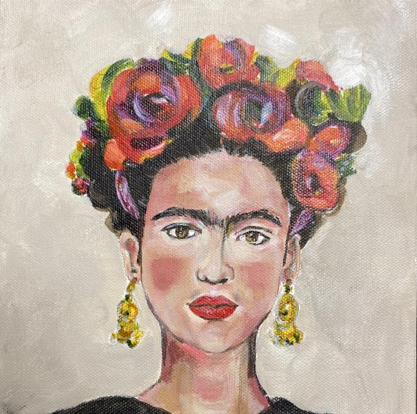 Frida - signed reproduction on canvas