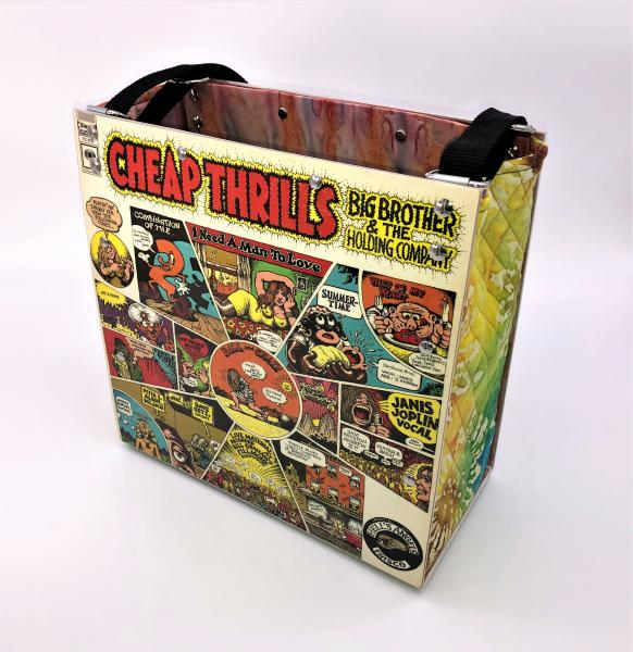 BIG BROTHER & THE HOLDING COMPLANY CHEAP THRILLS ALBUM COVER TOTE