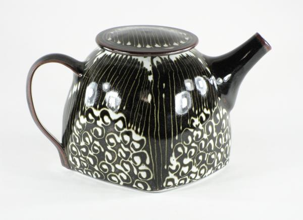 Temoku Striped/Swirl Teapot