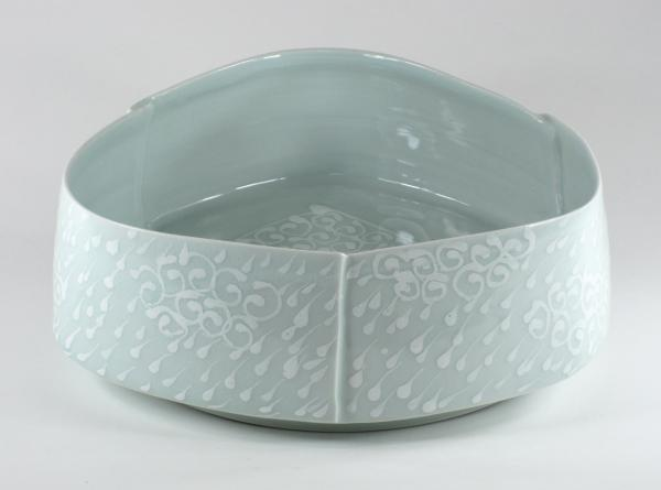 Large Darted Cloud Bowl