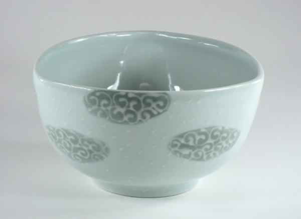 Large Individual Grey Cloud Bowl
