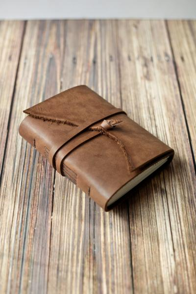 Rustic Leather Travel Journal / Brown Leather Sketchbook
