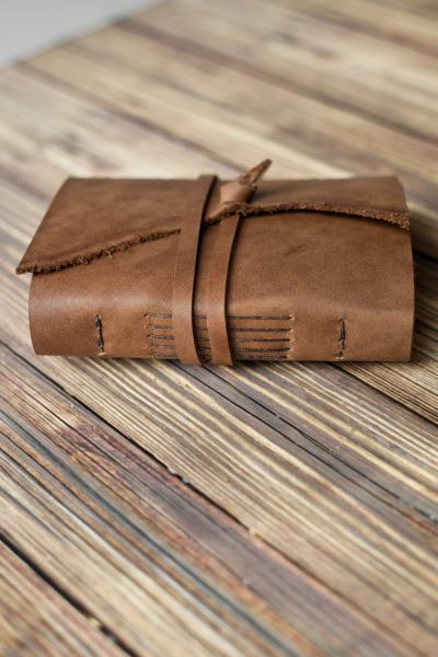 Rustic Leather Travel Journal / Brown Leather Sketchbook picture