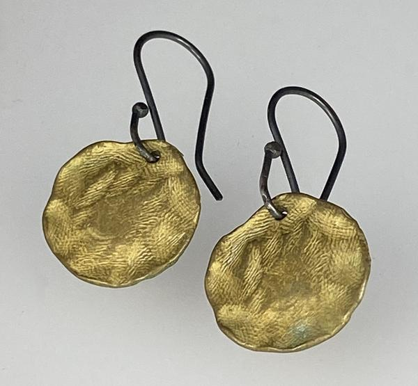 Bronze Coin Earrings