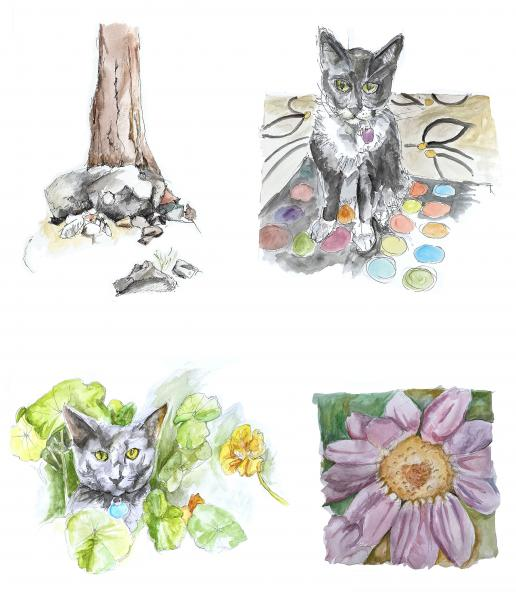 Water Color Sketches (Greeting cards)
