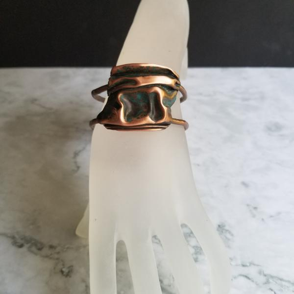 """The Country Lake Pond"" Copper Patina Cuff"