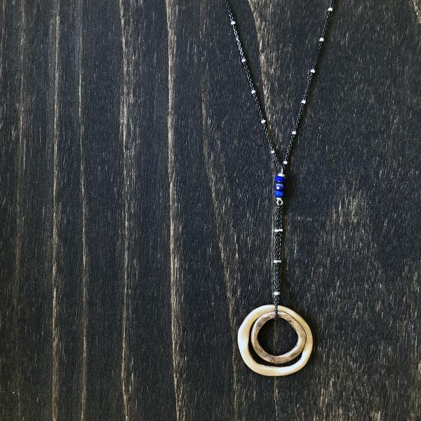 Bronze + Lapis Rings of Love Necklace