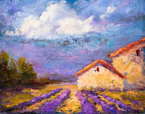 Farm House In The Midst Of Lavender