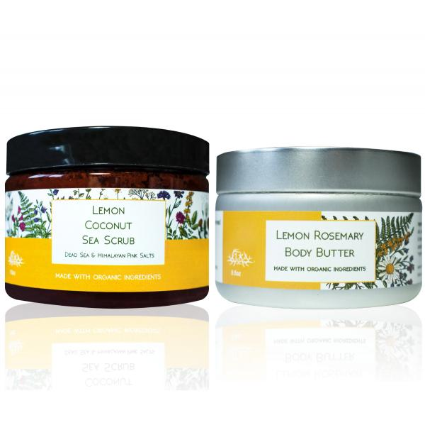 Large Lemon Body Butter & Sea Scrub Set ($75 value)