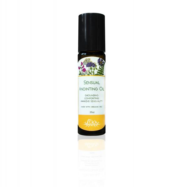 Sensual Anointing Oil, Vanilla-Orange-Rose-Vetiver Roll-On Essential Oil Blend